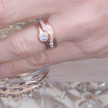 Custom Wedding Set in Rose Gold with Heirloom Diamonds