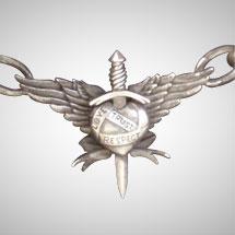 Custom Sterling Silver Crest Pendant