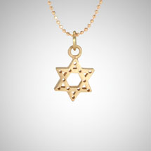 Small Rose Gold Jewish Star