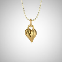 Yellow Gold Signature Puffy Heart