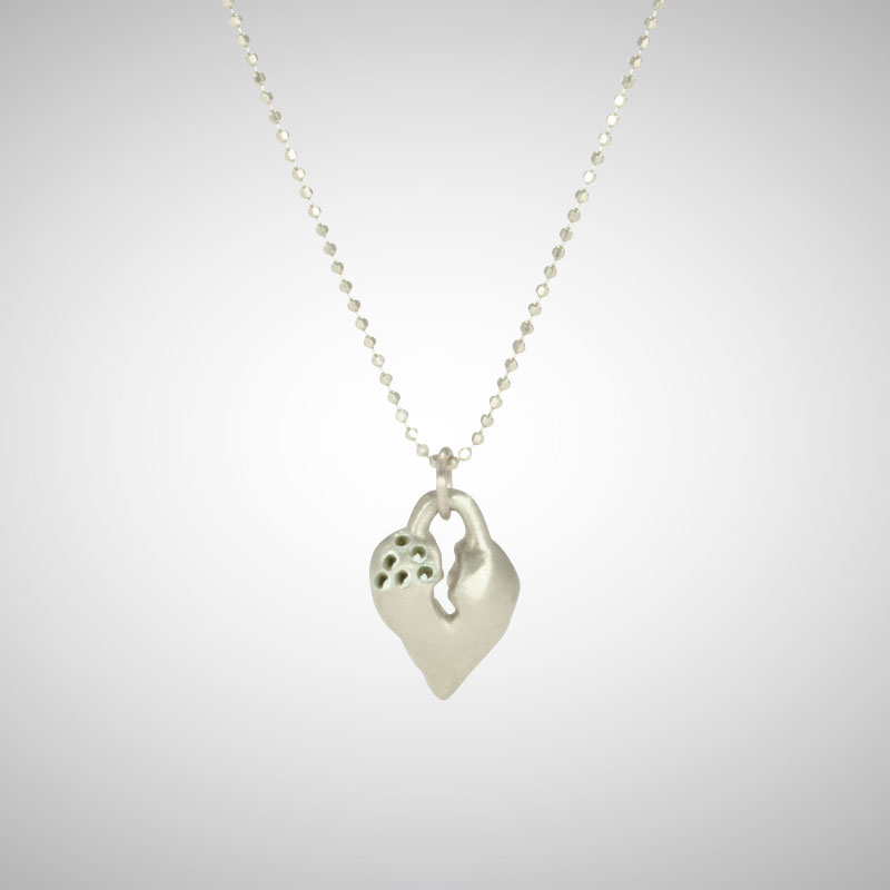 Small Silver Signature Heart