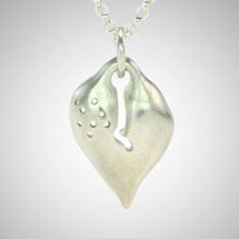 Large Silver Signature Heart