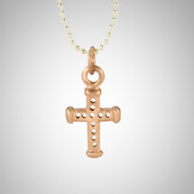 Small Rose Gold Holy Cross