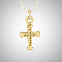 Small Yellow Gold Holy Cross