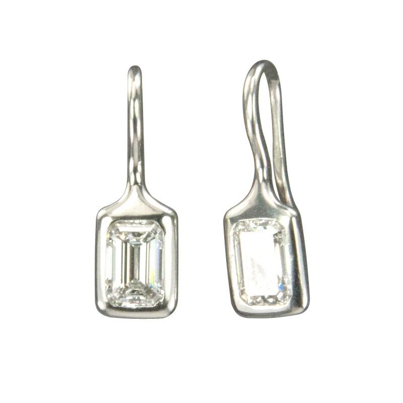 Custom Handmade Platinum and Heirloom Diamonds Earrings