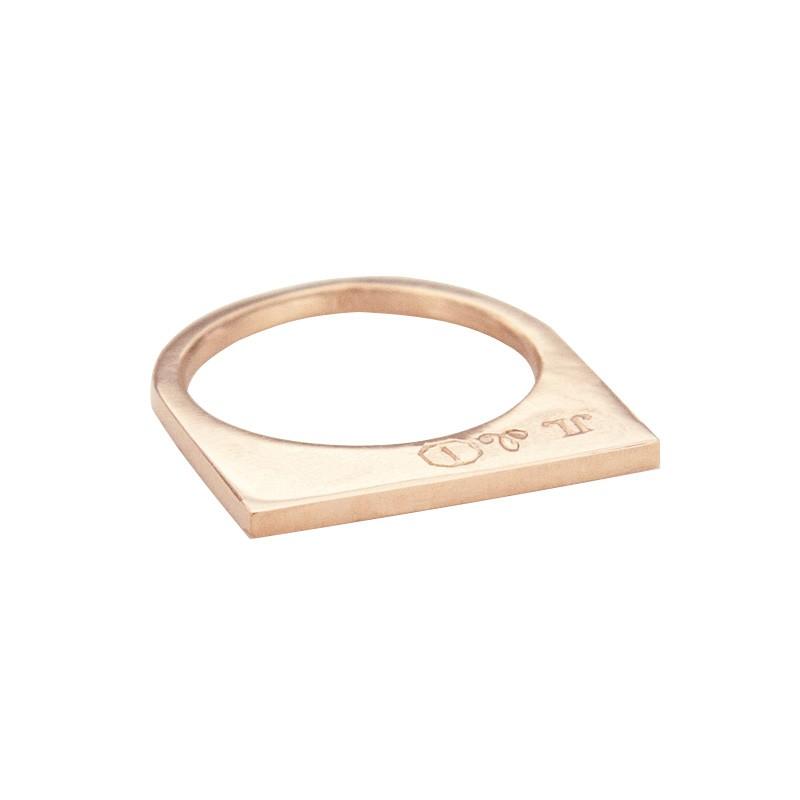 Super Flat Skinny Rose Gold Ring