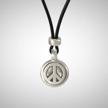 Medium Silver Peace Tag