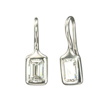 Custom Handmade Platinum and Heirloom Diamonds Earrings