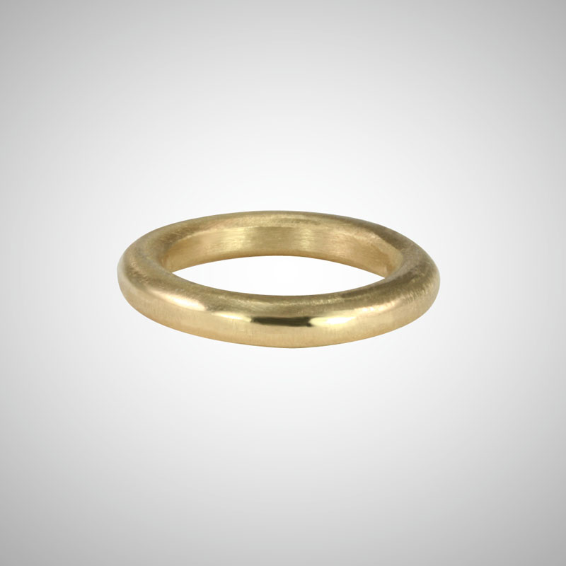 Thick Yellow Gold Stackable Ring