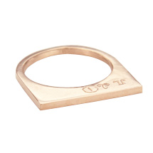 Super Flat Skinny Rose Gold Ring