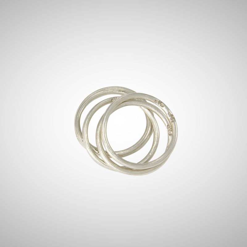 5-Stack Ultra Thin Silver Ring Set