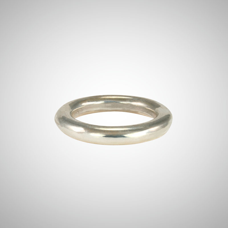 Thick Shiny Silver Stackable Ring