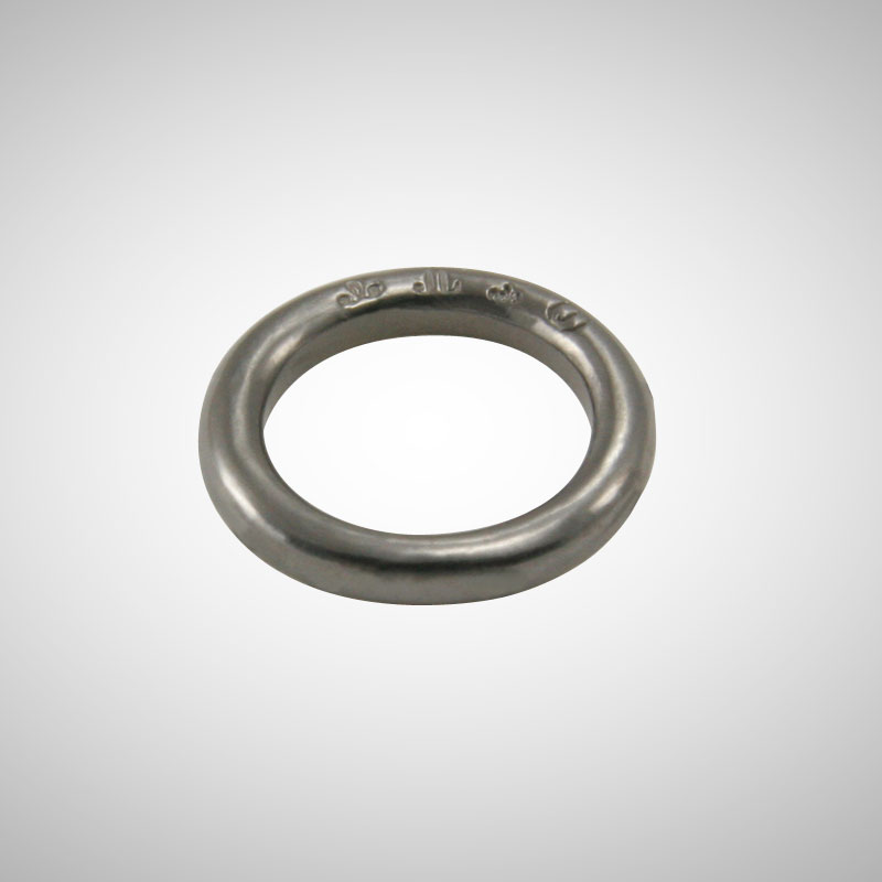 Thick Silver Stackable Ring plated with Black Rhodium