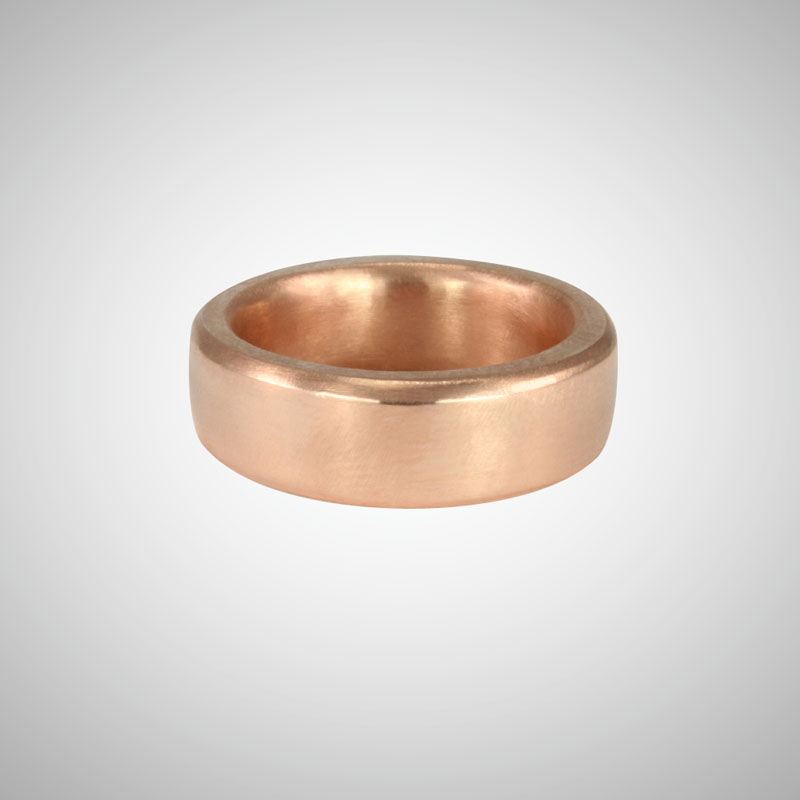 Wide Rose Gold Band