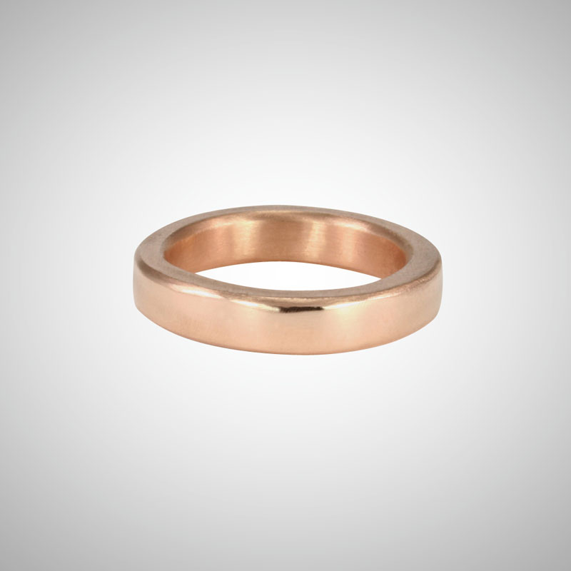 Medium Wide Rose Gold Band