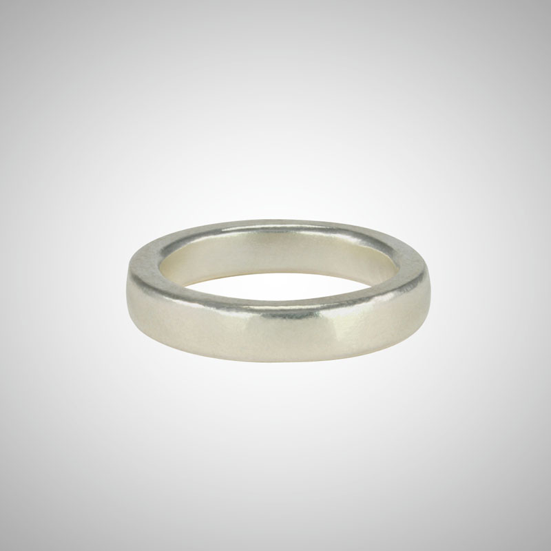 Medium Wide Silver Band