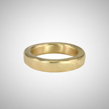 Medium Wide Yellow Gold Band