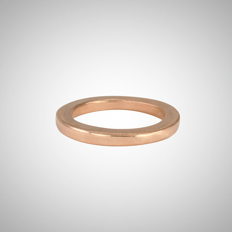 Narrow Rose Gold Band