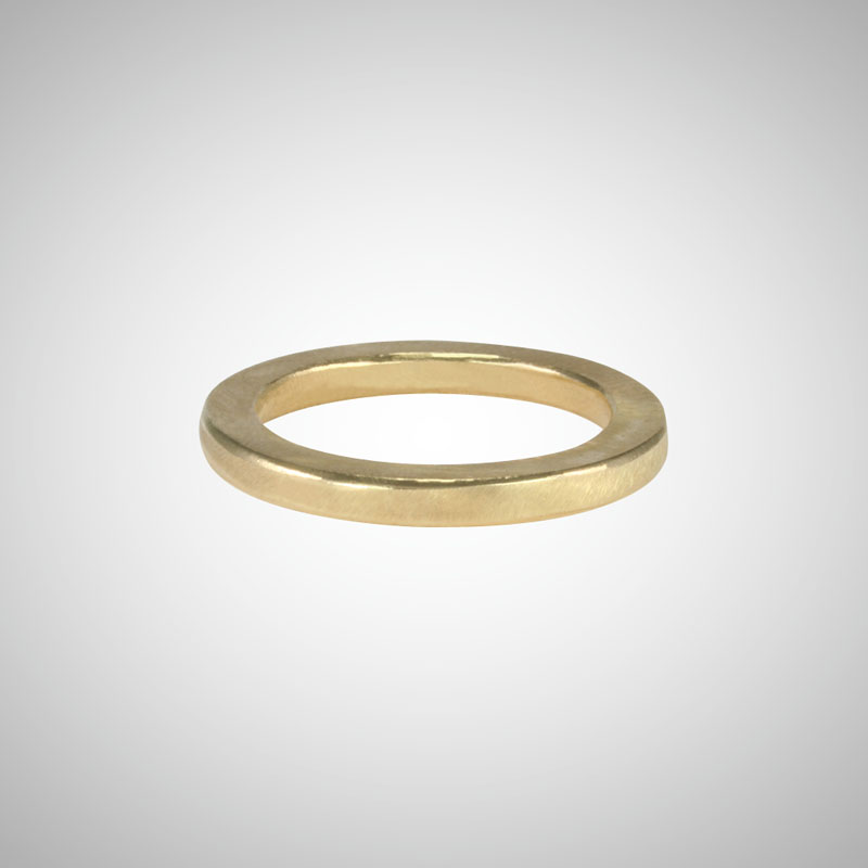 Narrow Yellow Gold Band