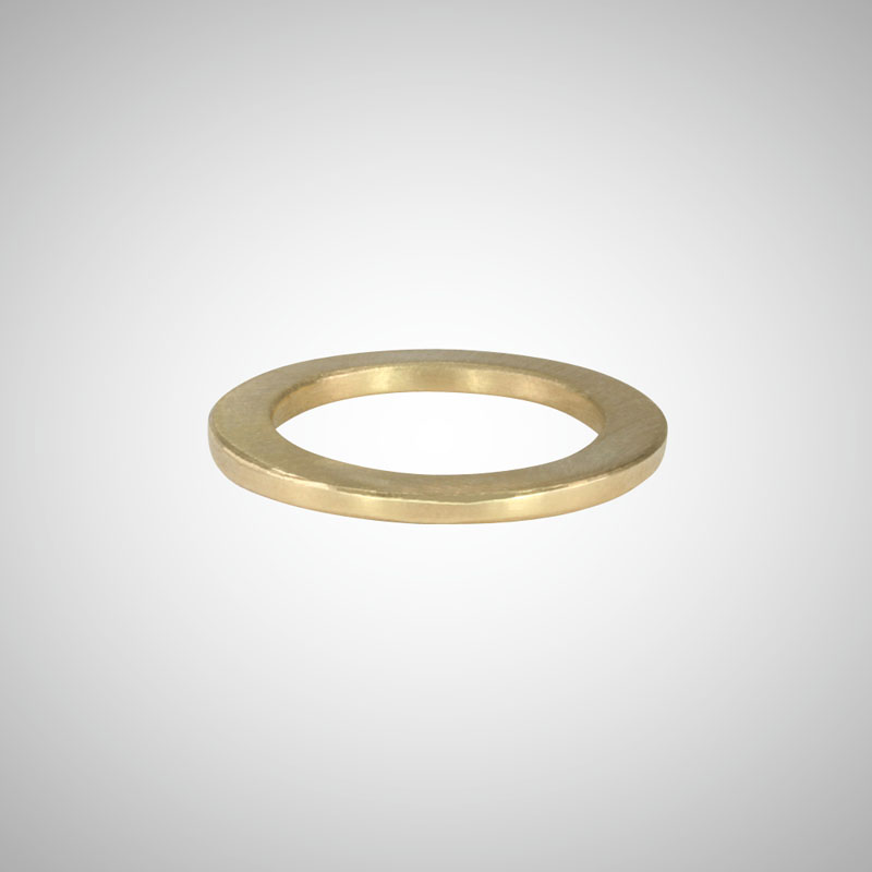 Skinny Yellow Gold Band