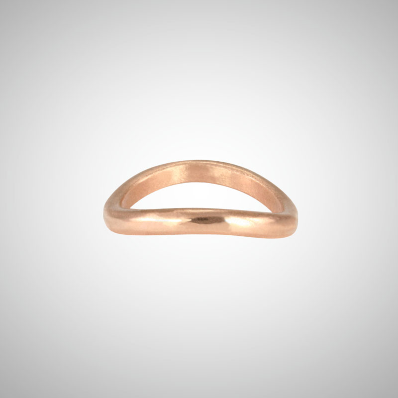Curved Rose Gold Stacking Ring