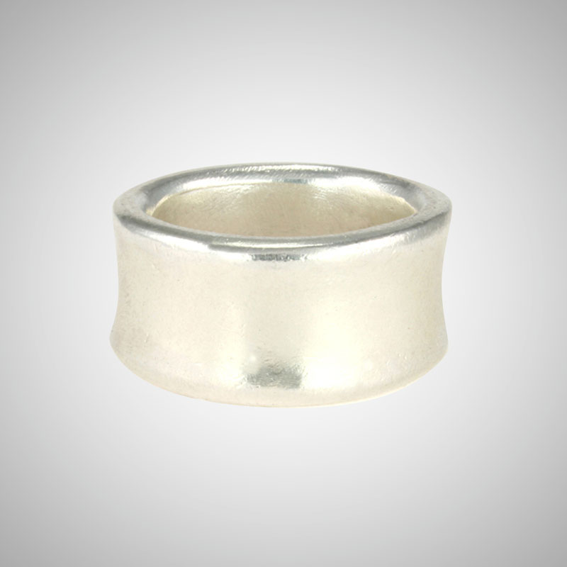 Super Big Silver Scoop Ring
